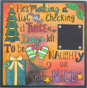 """Days left to be naughty or nice""! Countdown the number of days until Santa arrives!"