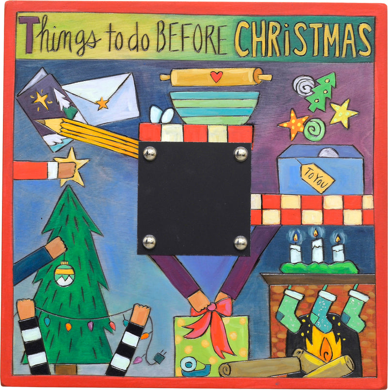 """Things to do before Christmas"" themed Christmas countdown plaque"