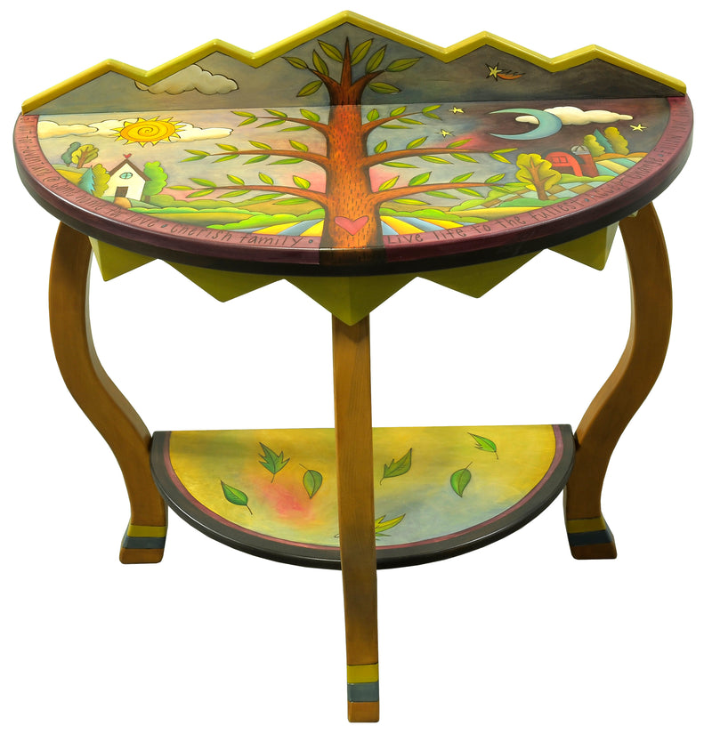 Small Half Round Table