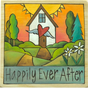 "Sweet ""happily ever after"" loving home plaque"