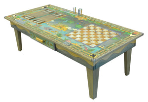 Cool colored jungle vs ocean game table with 3 fun games to play with loved ones