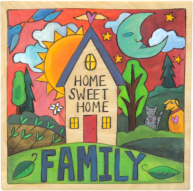 "10""x10"" Plaque –  ""Home sweet home"" family plaque"