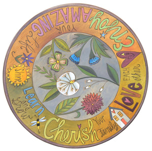 "20"" Lazy Susan –  Flowers and bold wording mix to create this whimsical design"