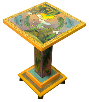 Martini End Table – Handsome soaring birds and landscape motif martini table in a classic palette main view