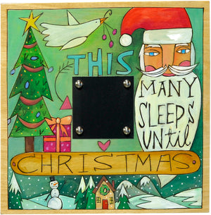 "Christmas Countdown Plaque –  Floating icon design countdown plaque design pointing out ""this many sleeps until Christmas"""