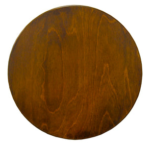 "20"" Lazy Susan –  A lovely, simple walnut stained lazy susan, this would balance perfectly with a busy Sticks table with rich tones! main view"