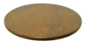 "20"" Lazy Susan –  A lovely, simple walnut stained lazy susan, this would balance perfectly with a busy Sticks table with rich tones! top view"