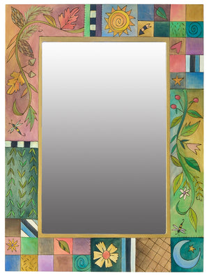 Rectangular Mirror – Beautiful four seasons vine and patchwork with icons motif