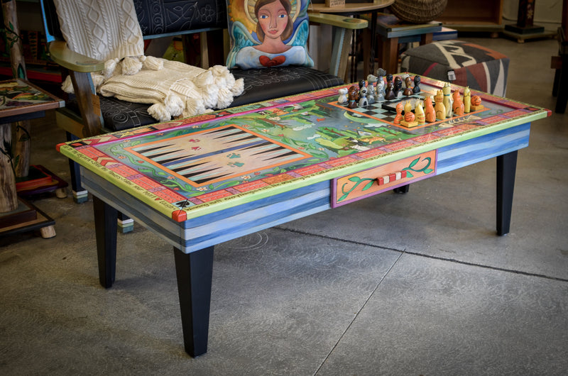 Urban Game Table and Chess Set
