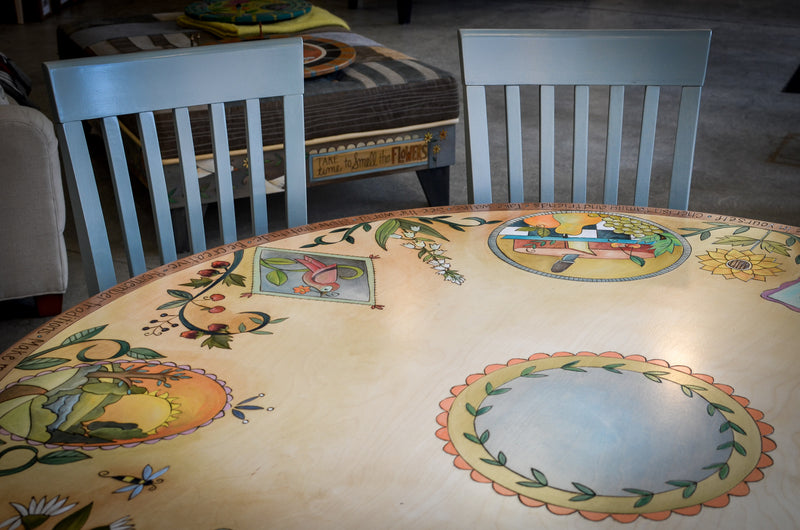 "60"" Round Dining Table and Chairs"