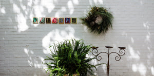 "Example of Sincerely, Sticks ""C"" alphabet letter plaque to spell out Welcome"