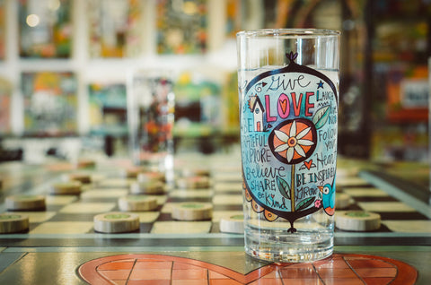 Give Love Sincerely, Sticks printed glass