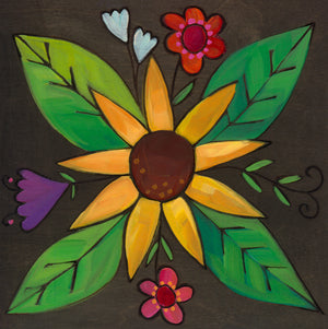 Flower Icon Plaque – This flower plaque makes the perfect finishing touch to your Love Letters word or phrase front view
