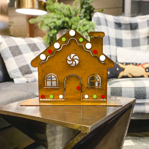 Gingerbread House Sculpture – Have yourself a holly jolly Christmas with a gingerbread house sculpture main view