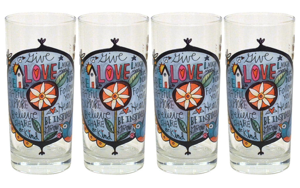 Give Love Drinking Glasses