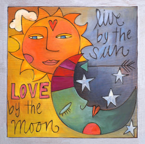 """Happy Jack"" Plaque – The sun and moon light up the sky on this plaque front view"