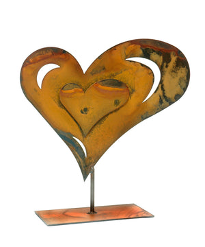 Dimensional Heart Sculpture – 3 dimensional heart sculpture perfect for an anniversary or Valentine's Day gift main view