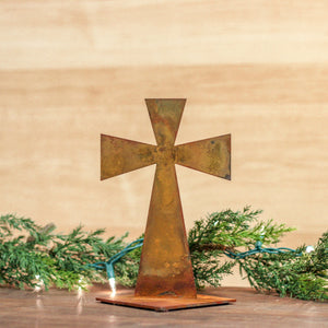 Contemporary Collectible Cross – A sweet little tabletop cross that's perfect to display for Christmas, Easter, or all year round main view