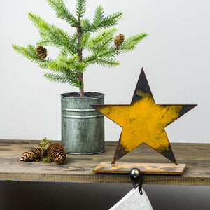 Star Stocking Holder – Festive Christmas star stocking holder for a fun touch on your fireplace mantle main view