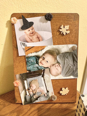 Tall Magnetic Frame – Say goodbye to fussy glass and incorrect print sizes, this frame accommodates several prints in one main view