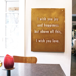 I Wish You Joy Wall Art – Written by the infamous Dolly Parton and performed memorably by Whitney Houston, if you can't belt these lyrics at the top of your lungs, gift our wall art to your special someone