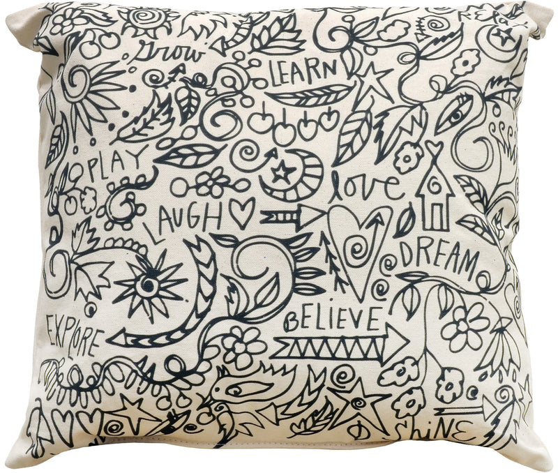 Sincerely, Sticks printed pillow