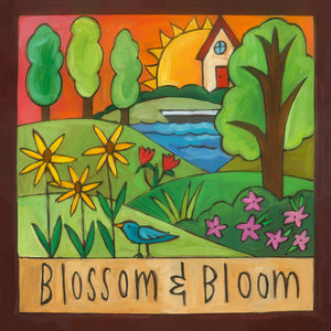 """It's Growin' Time"" Plaque – A vibrant and lush landscape motif celebrates summer front view"