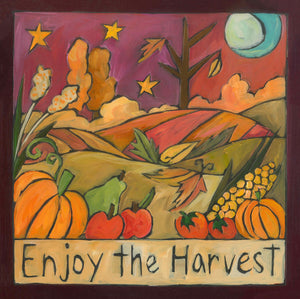 """It's Pickin' Time"" Plaque – A warm autumn motif celebrates fall front view"