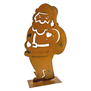 Jolly Santa Sculpture – Have a holly, jolly Christmas display with this Santa sculpture on white background