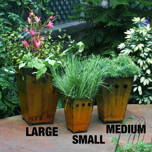 Medium Planter - Perfect middle size planter, match the sizes for a formal look on either side of your front entry or mix and match for a more casual feeling