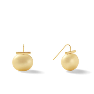 Classic Large Pebble Pearl Earrings in Sunflower – Catherine Canino's most popular design is a classic piece for your wardrobe in a lovely golden yellow color