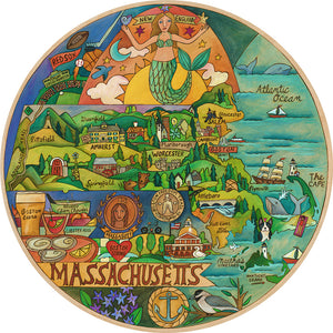 """Magnificent Massachusetts"" Lazy Susan"