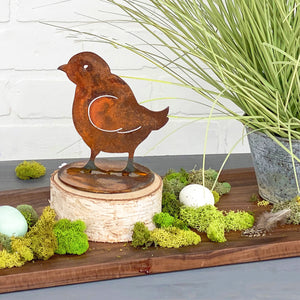 Peep Chick Sculpture – Little tabletop chick sculpture is perfect for a little rustic touch of spring main view