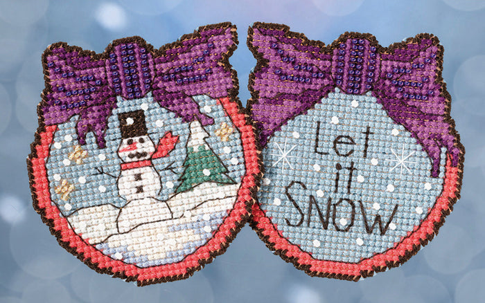 Let it Snow Stitch Kit Ornament