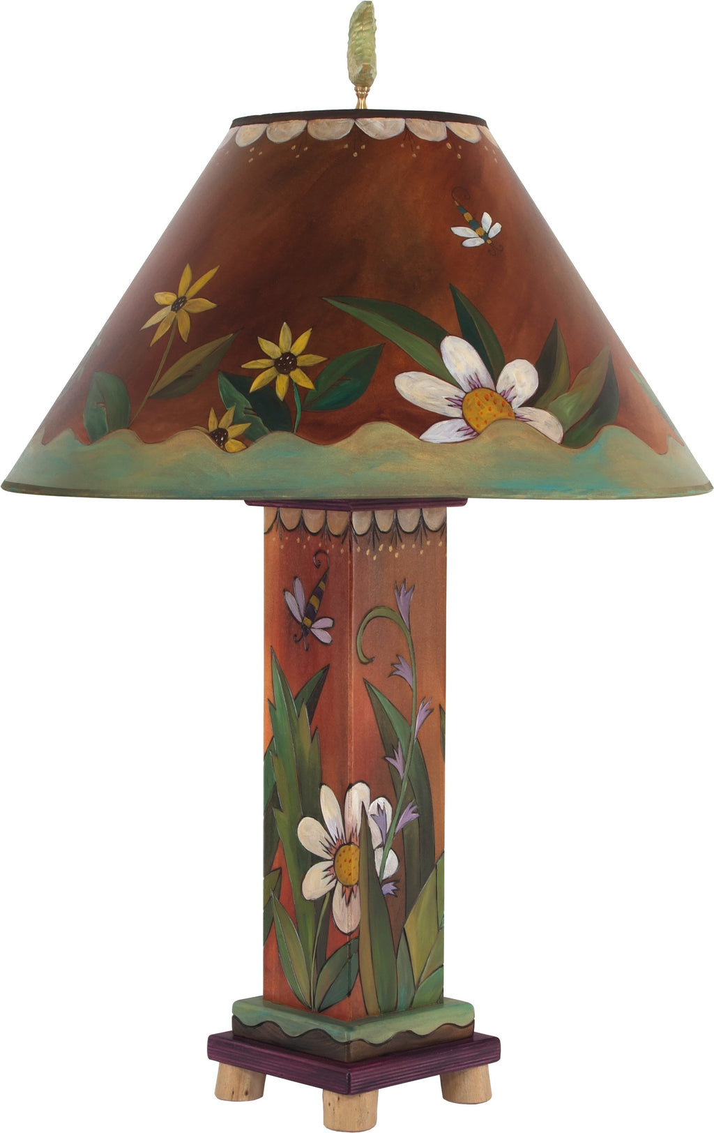 Box Table Lamp –  Elegant table lamp with floral garden motifs