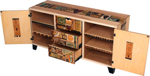 "Credenza Buffet –  ""Seize the Day"" credenza buffet with warm sayings and designs motif"