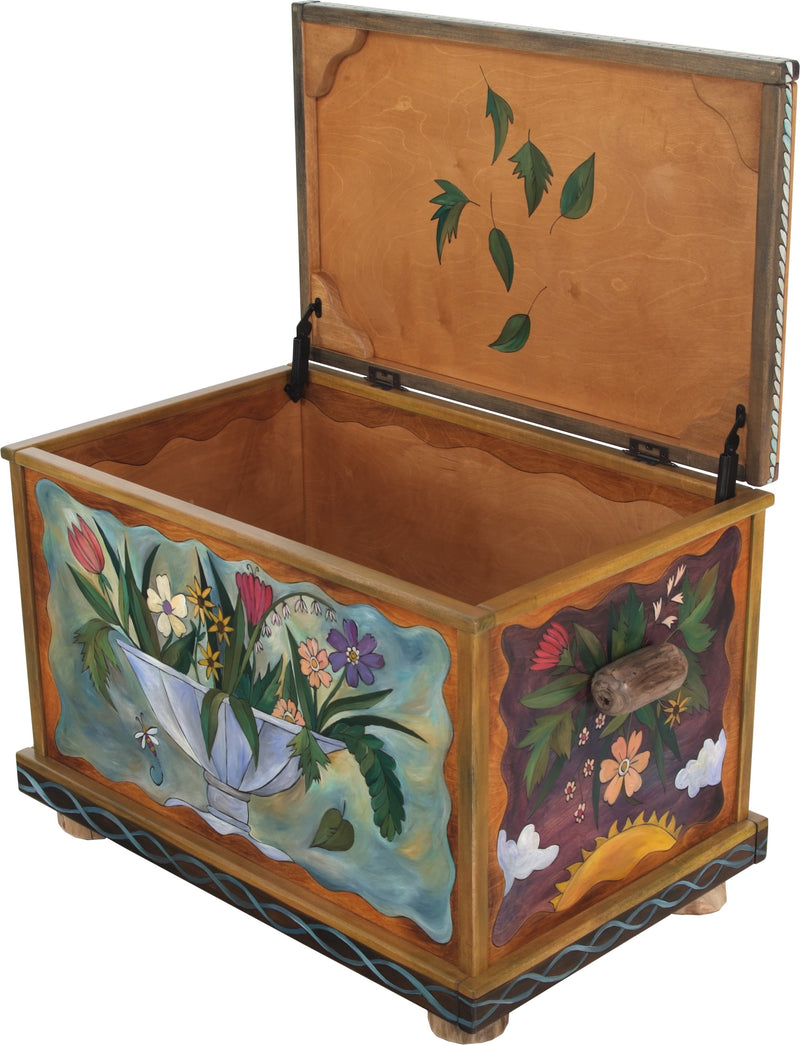 Chest –  Flower themed chest with floral motif