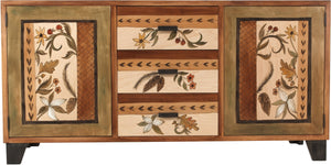 Large Buffet –  Warm credenza buffet with nature motif