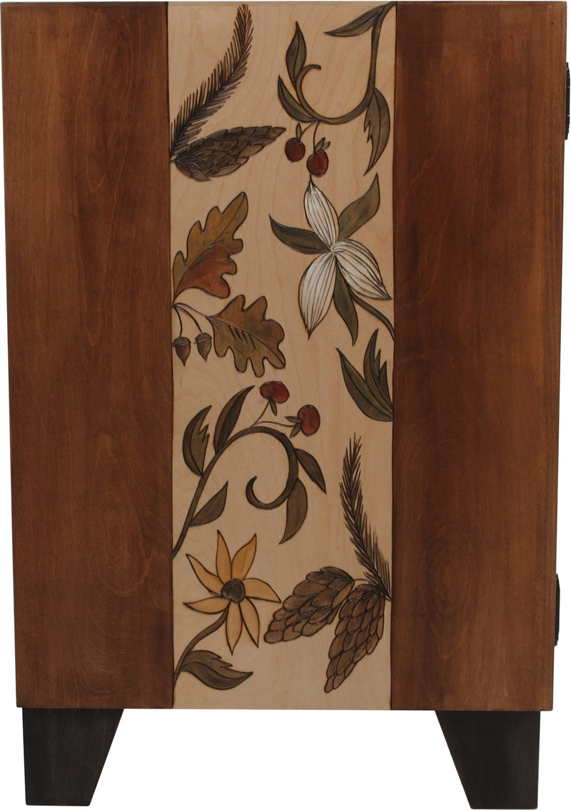 Credenza Buffet –  Warm credenza buffet with nature motif