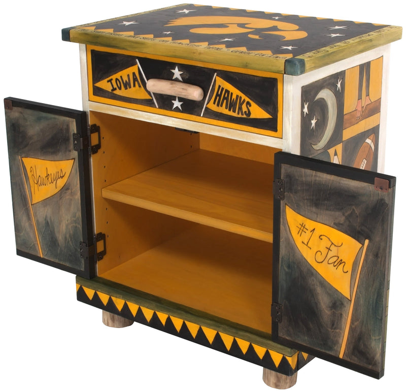 University of Iowa Nightstand Cabinet