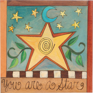 "10""x10"" Plaque –  ""You are a star"" inspirational plaque"