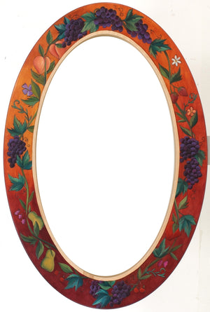 Oval Mirror –  Flora and fruits mirror in rich and elegant hues