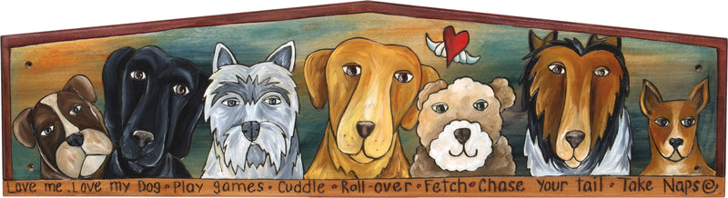Door Topper –  Dog themed door topper with many dog types and inspirational words