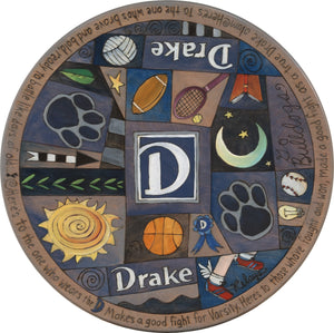 "Drake University 20"" Lazy Susan –  School oriented lazy susan honoring Drake University"