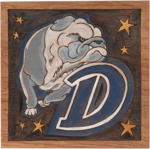 "Drake University 10""x10"" Plaque –  Drake Bulldogs school plaque honoring Drake University"