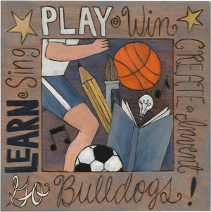 "Drake University 10""x10"" Plaque –  ""Go Bulldogs"" school spirit plaque honoring Drake University"