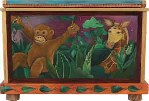 "Chest –  ""Life's Adventures"" chest with safari animals motif"