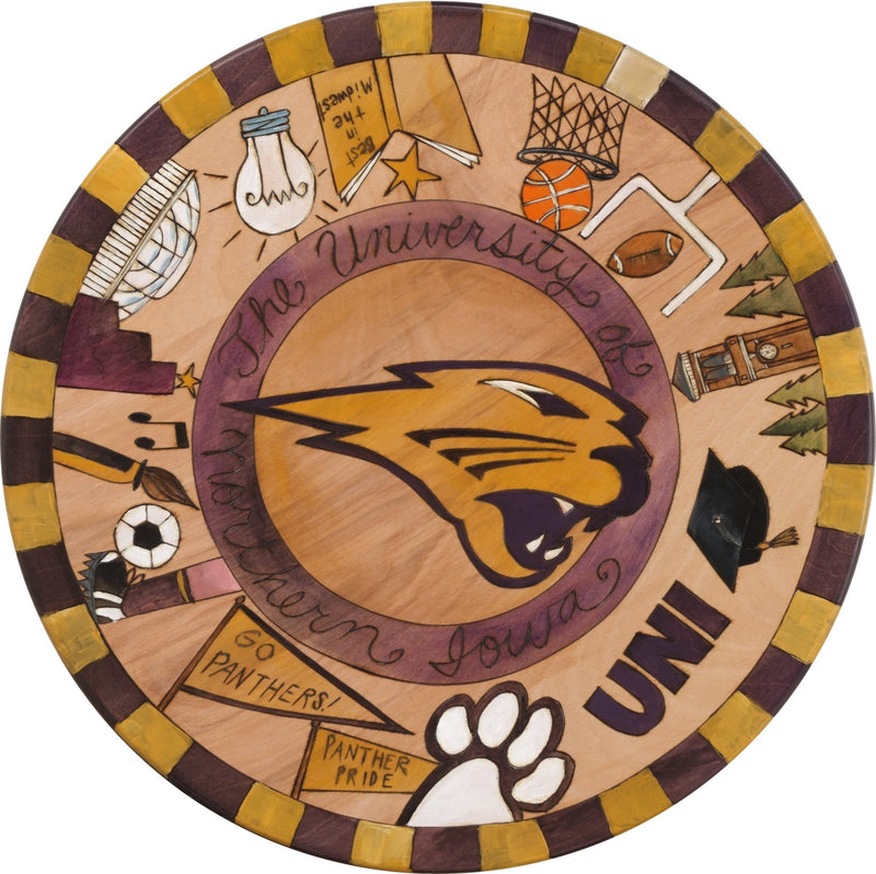 "Sticks Handmade University of Northern Iowa 20""D lazy susan"