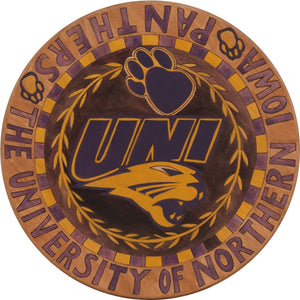 "University of Northern Iowa 20"" Lazy Susan –  A classic collegiate look with a vine encircling the UNI logos"
