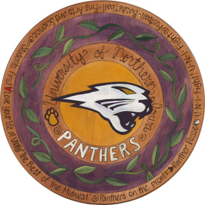 "University of Northern Iowa 20"" Lazy Susan –  A vine encircles the UNI panther"